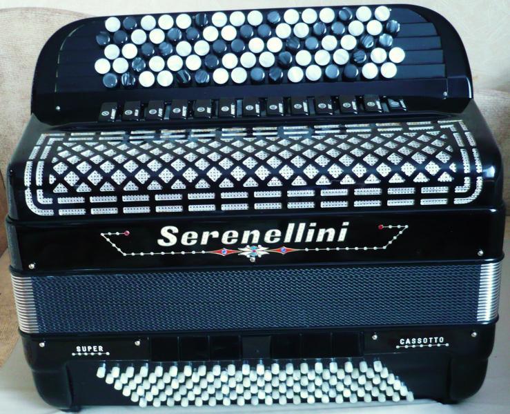 Концертный эстрадный баян Serenellini Cassotto Super (пр-во Италии) 2015 Кастельфидардо
