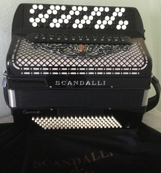 Эстрадный Баян Scandalli-Hromo VI,готовый. Тел +7-925-508-79-26